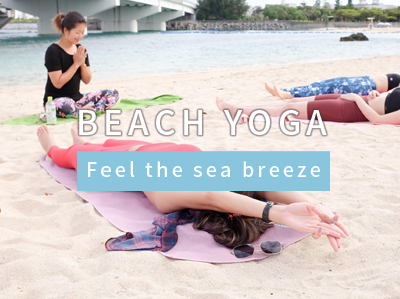 Beach yoga in Okinawa